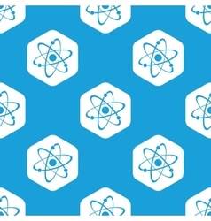 Atom hexagon pattern vector