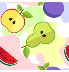 Tasty fruit pattern for your design vector