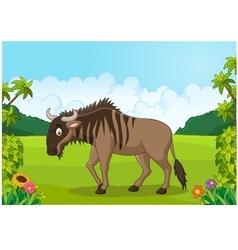 Cartoon animal Wildebeest vector image