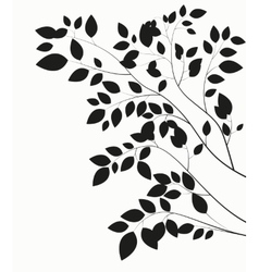 Beautiful Tree Silhouette on a White Background vector image
