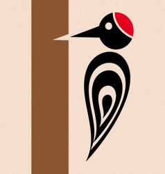 Woodpecker icon vector