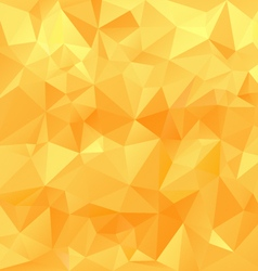 Yellow orange sunny polygonal triangular pattern vector