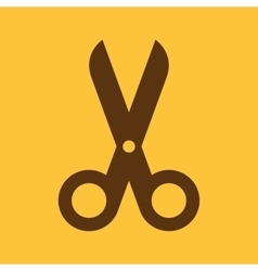 The scissors icon shears and clippers cut off vector