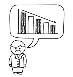 Business loss graph vector
