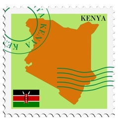 Mail to-from kenya vector