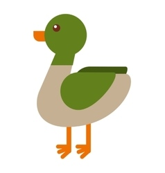 Duck farm isolated icon design vector