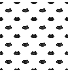 Bird nest and eggs pattern simple style vector