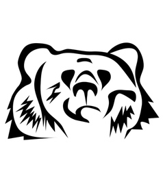 brown bear silhouette vector image vector image