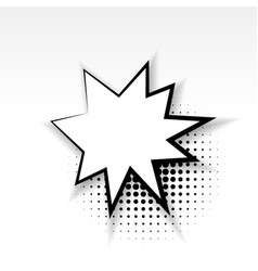 comic empty paper star babble soft shadow vector image vector image