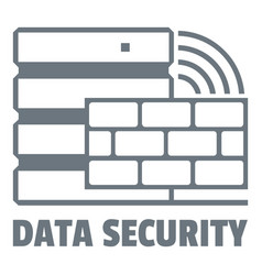 data security logo simple style vector image
