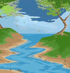 forest scenery vector image