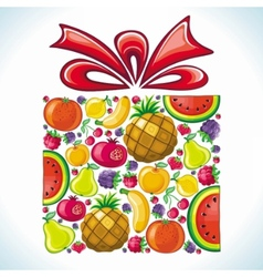 Fruity present vector image vector image