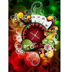 Gambling roulette wheel vector
