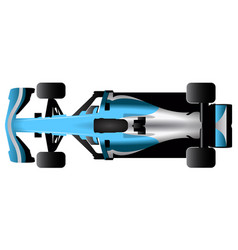 isolated racing car icon vector image vector image