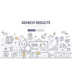 Online search doodle concept vector