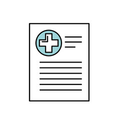 Patient file icon medical report analysis vector