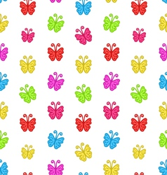 Seamless Pattern with Multicolored Hand Drawn vector image