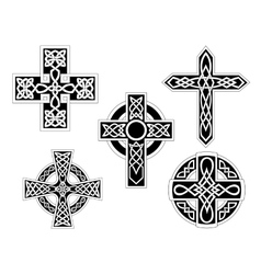 Set of celtic crosses vector