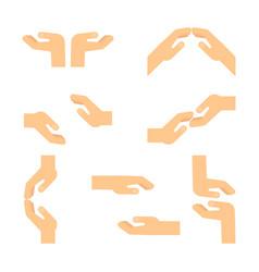 set of european hands vector image