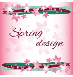 Spring card design vector image vector image