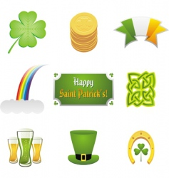 St Patrick's ornaments vector image vector image