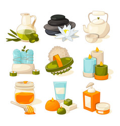 symbols of massage or spa salon therapy vector image