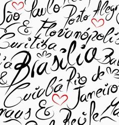Travel brazil destination words seamless pattern vector