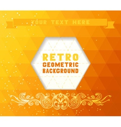 Vintage abstract mosaic background vector image