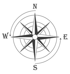 Wind rose vector image vector image