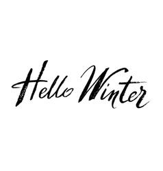 Winter callygraphy design vector