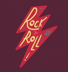 Rock and roll lettering vector