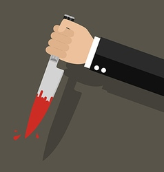 Businessman holding a knife in hand vector