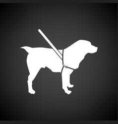 Guide dog icon vector