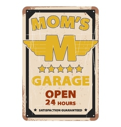 Vintage garage advertisement poster design vector