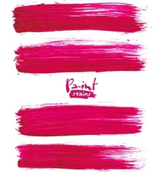 Bright pink acrylic brush strokes vector