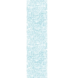 Blue lace flowers textile vertical border seamless vector