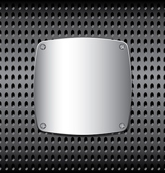 Metal screen on the grid vector