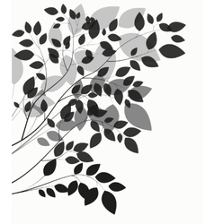 Beautiful tree silhouette on a white background vector