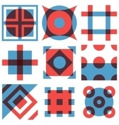 Geometric shapes patterns set vector