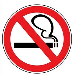 No smoking vector image
