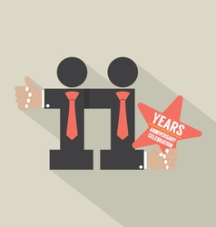 11th Years Anniversary Typography Design Il vector image