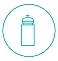 Sport water bottle line icon vector