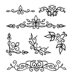 Hand drawn decoration elements frames page vector