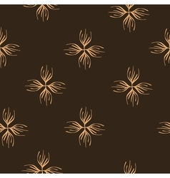 Floral brown seamless pattern vector