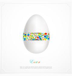 Abstarct easter egg vector