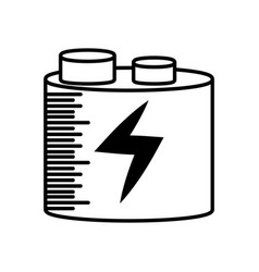 Battery charging power outline vector