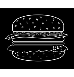 Burger meat eps 10 vector image