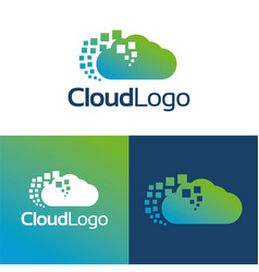 cloud logo and icon vector image