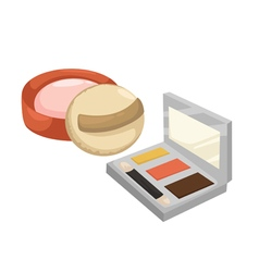 Cosmetic Powder vector image vector image