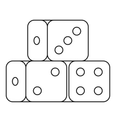 Dice cubes icon outline style vector